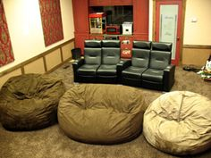 huge bean bag chairs for movie room