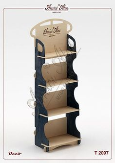 Rak Display, Wood Display Stand, Display Design, Cnc Projects, Projects To Try, Diy Cardboard Furniture, Cnc Cutting Design, Cardboard Display, Counter Design