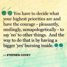Stephen Covey on Priorities