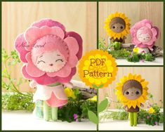 This PDF hand sewing pattern will give you instructions and patterns to make the flowers pictured. Size: 6 tall.  THIS IS NOT A FINISHED TOY. Pattern does NOT include plushies, supplies or felts.  THIS PDF e-Pattern includes: . Step by step photo tutorial. . A material and supply list. . Full size pattern pieces just Print and Sew! (No need to enlarge or resize!)  Skill Level: easy (are suitable for all levels of sewers)  All are sewn on and are not removable.  Instant Download!  If you need…