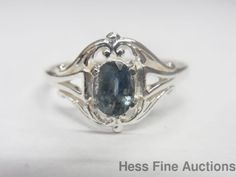 Brand New Sterling Silver Natural Sapphire Solitaire Ring #Solitaire