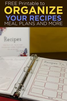 If you've ever wished you could keep all of your... 📎 Recipes, 📎 Meal Plans, 📎 Shopping Lists, 📎 Family Favorites, 📎 Pantry and Freezer Inventory ...and MORE in ONE binder? Here's your opportunity! Download the FREE Recipe Binder printable here. #recipebinder #kitchenorganization #mealplanning #familyrecipe