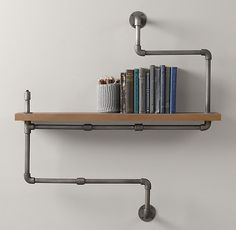 A beautifully modern twist on a typical pipe shelf; come see this DIY Concrete Industrial Pipe Shelf and grab all the details to make your own.