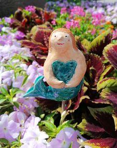 Meerjungfrau Nixe Keramikfigur Homedeko Handmade Art, Animals, Young Women, Mermaid, Handmade, Creative, Nice Asses, Animales, Animaux