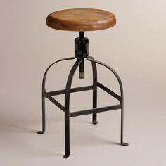 Twist Swivel Stool from Cost Plus World Market's New Woodland Retreat Collection >> #WorldMarket Home Decor Ideas