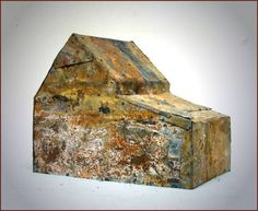 Larry Calkins - barker house, 6 x 12 x 7 inches, wood, metal http://www.calkinsart.net/2013/html/sculpt2013_5.html