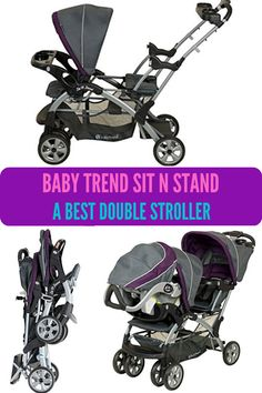 Baby Trend sit n stand double stroller is an extremely flexible stroller changes to accommodate the growing children in various stages of development. Its lying down facility make it best stroller for twins. This fifth best double stroller features recycling seats, large basket, double sit and stand, parking break, and parent tray.  #bestdoublestroller #beststroller #stroller Best Twin Strollers, Best Travel Stroller, Double Baby Strollers, City Select Stroller, Baby Jogger City Select, Double Stroller For Toddlers, Double Stroller Reviews, Best Double Stroller, Best Lightweight Stroller