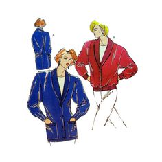 Women's Cardigan Sewing Pattern, Shawl Collar, Long Sleeves Misses Size XS-S-M-L Uncut Vintage 1980's Kwik Sew 1806