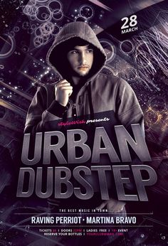 Urban Dubstep Flyer by styleWish on Graphicriver (PSD Template)