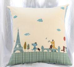 Adorable paris pillow