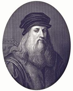 Leonardo da Vinci - ilustração de arte vetorial