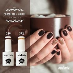We love sweet & intense Shades that keep us warm in the winter. Chocolate or coffee?  #AndreiaProfessional #Nails #Nailstagram