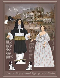 Charles II & Catherine * 1500 free paper dolls at Arielle Gabriels The International Paper Doll Society also free Asian paper dolls at The China Adventures of Arielle Gabriel *