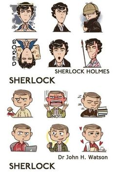 Little John and Sherlock art :3