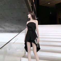 Teen Fashion Outfits, Girly Outfits, Stylish Outfits, Dress Outfits, Girl Fashion, Fashion Dresses, Cute Outfits, Fashion Design, Korean Fashion Trends