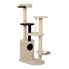 Pawhut 55' Cat Tree Scratching Post Condo Furniture - Beige/Brown *** Click on the image for additional details. (This is an affiliate link and I receive a commission for the sales)