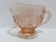 Vintage Federal Glass Pink Depression Glass Sharon Cabbage Rose Creamer WOW NR