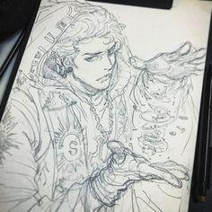 "2,647 Me gusta, 9 comentarios - STATO (@ozo_stato) en Instagram: ""T.T.T •시간 여행자 - 러프 스케치 #TTT #시간여행자 #캐릭터 #설정 #character #stato #sketch #pencil #draw #concept…"""