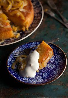 Lemon marmalade polenta cake