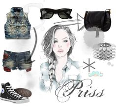 """Denim¬Priss"" by misschanel37 ❤ liked on Polyvore"