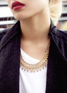 New gold drops necklace!