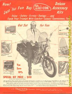 1965 Triumph Motorcycle 14-Page Catalog / Brochure