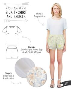 Lula Louise: DIY Outfit – Silk T-Shirt and Shorts