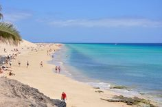 Twitter / lxmael: Playa de Morro Jable on Fuerteventura on the Canary Islands.