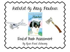 I created this assessment to accompany the reading of Hatchet by Gary Paulsen.   This assessment includes 45 multiple choice questions that covers comprehension questions throughout the text, as well as 4 short answer questions that require students to use advanced thinking to answer.
