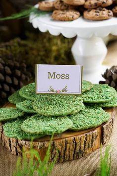 Moss Cookies from a Boho Enchanted Forest Birthday Party via Kara's Party Ideas | KarasPartyIdeas.com (6)