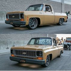 Hot Wheels - Sweet @kcoxphoto shots of @66chevy rolling in his bad ass squarebody C10, super clean truck! #chevrolet #gmc #c10 #streetmachine #streetrod #hotrod #streettruck #truckporn #carporn #stance #squarebody #lowfastfamous
