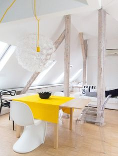 A flat in an attic of old tenement house by Sabina Królikowska, via Behance