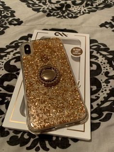 Casemate Karat Rose Gold Case for iPhone XS Max paired with Casemate ring Apple Products, Iphone Cases, Rose Gold, Ring, Silver, Productivity, Rings, Money, I Phone Cases