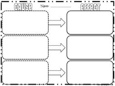 freebie graphic organizer for cause and effect fifthgradeflock