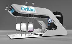 Projeto de estande para empresa de automação industrial.