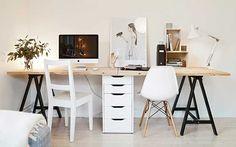 | Mesa de caballete para el despacho - Decofilia Blog