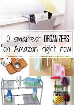 The 10 latest trend in organizers that help you get and stay organized on a daily basis! Affordable and smart home organizing tools!