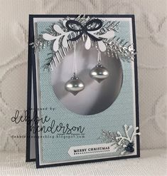 Debbie's Designs: Create with Connie & Mary Saturday Blog Hop using Pretty Pines Thinlits Dies, Layering Circles Dies, Classic Label Punch, Mini Ornaments and Coffee Break Designer Paper. Debbie Henderson #stampinup #createwithconnieandmary #bloghop #debbiehenderson #debbiesdesigns #miniornaments #prettypines #stitchedshapes