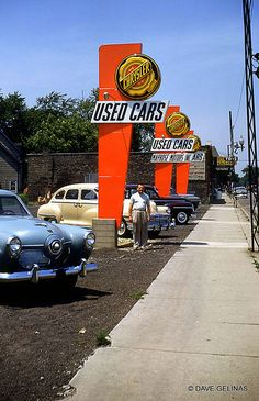 Mid1950s University Motor Sales Goodwill Used Car Trading Post