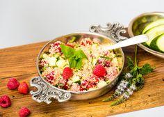 Cous Cous mit Gurke und Himbeeren Acai Bowl, Ayurveda, Breakfast, Food, Raspberries, Thermomix, Eten, Meal, Meals