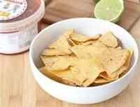 Lime Tortilla Chips  For recipe:  https://www.facebook.com/photo.php?fbid=466326943404532&set=a.475303835840176.93124.432606490109911&type=3&theater  http://www.pamperedchef.biz/labritta