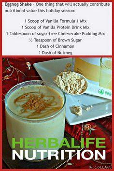 Herbalife eggnog shake.                                                       …                                                                                                                                                                                 More