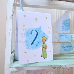 """Θεματική Αρίθμηση Τραπεζιών """"Μικρός Πρίγκιπας"""" Birthday Ideas, Frame, Cover, Floral, Books, Wedding, Vintage, Home Decor, Art"""