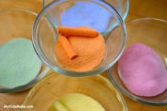 Chalk colored salt art - this website has TONS of great arts and crafts ideas