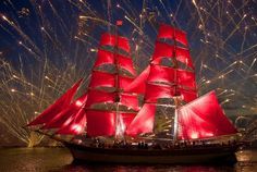Red sails and fireworks