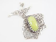 Large Sufi Whirling Dervish Bright Lime Green Jade by LylaSupplies, $12.50
