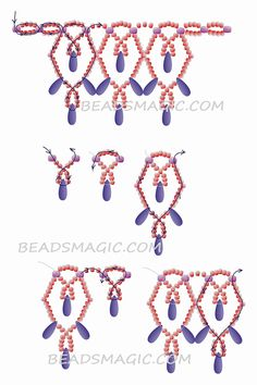 Free Beading Projects with Instructions Beaded Necklace Patterns, Beaded Jewelry Designs, Seed Bead Jewelry, Bead Jewellery, Seed Beads, Flower Jewelry, Beaded Necklaces, Perler Beads, Jewelry Rings