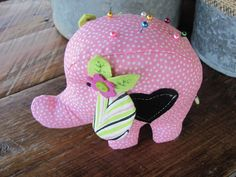 Elephant Pincushion by BumbleBabeeDesigns on Etsy, $9.50