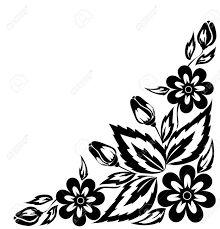 Резултат с изображение за roses angular ornaments black white vector