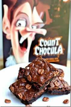 Count Chocula Brownies. My absolute FAVORITE cereal and brownies? PERFECT!